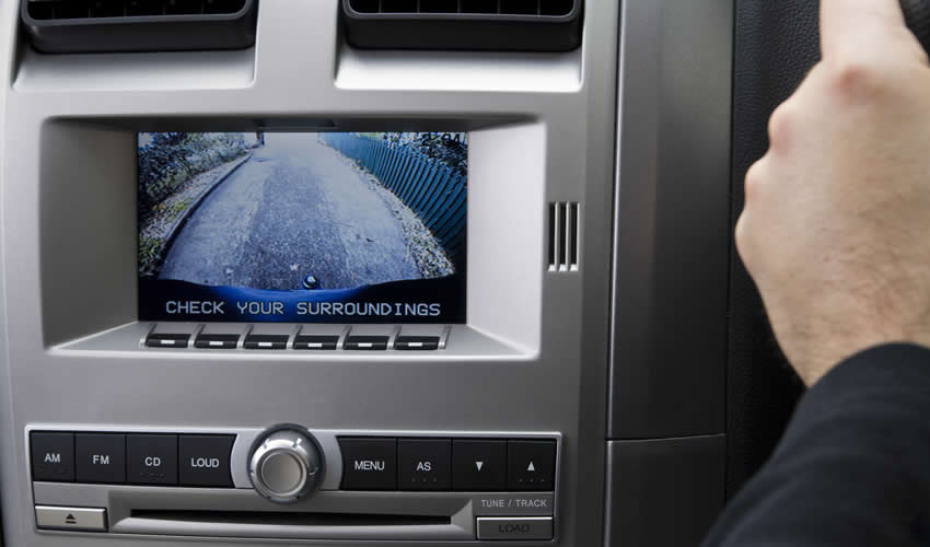 See whats behind you with a reversing camera installed by Caintech